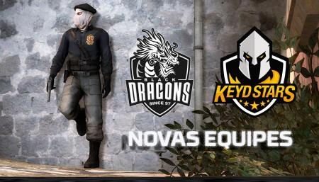 Keyd Stars e Black Dragons com novas equipes de CS:GO